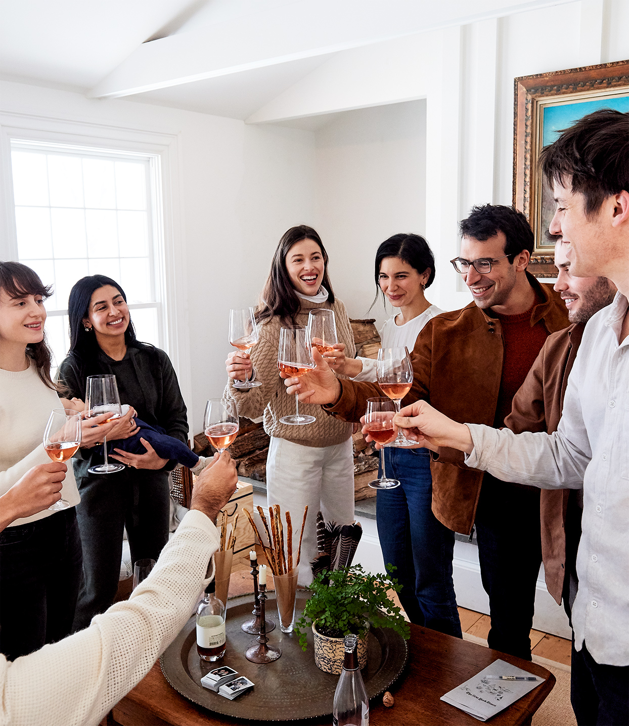 friends toasting in celebration