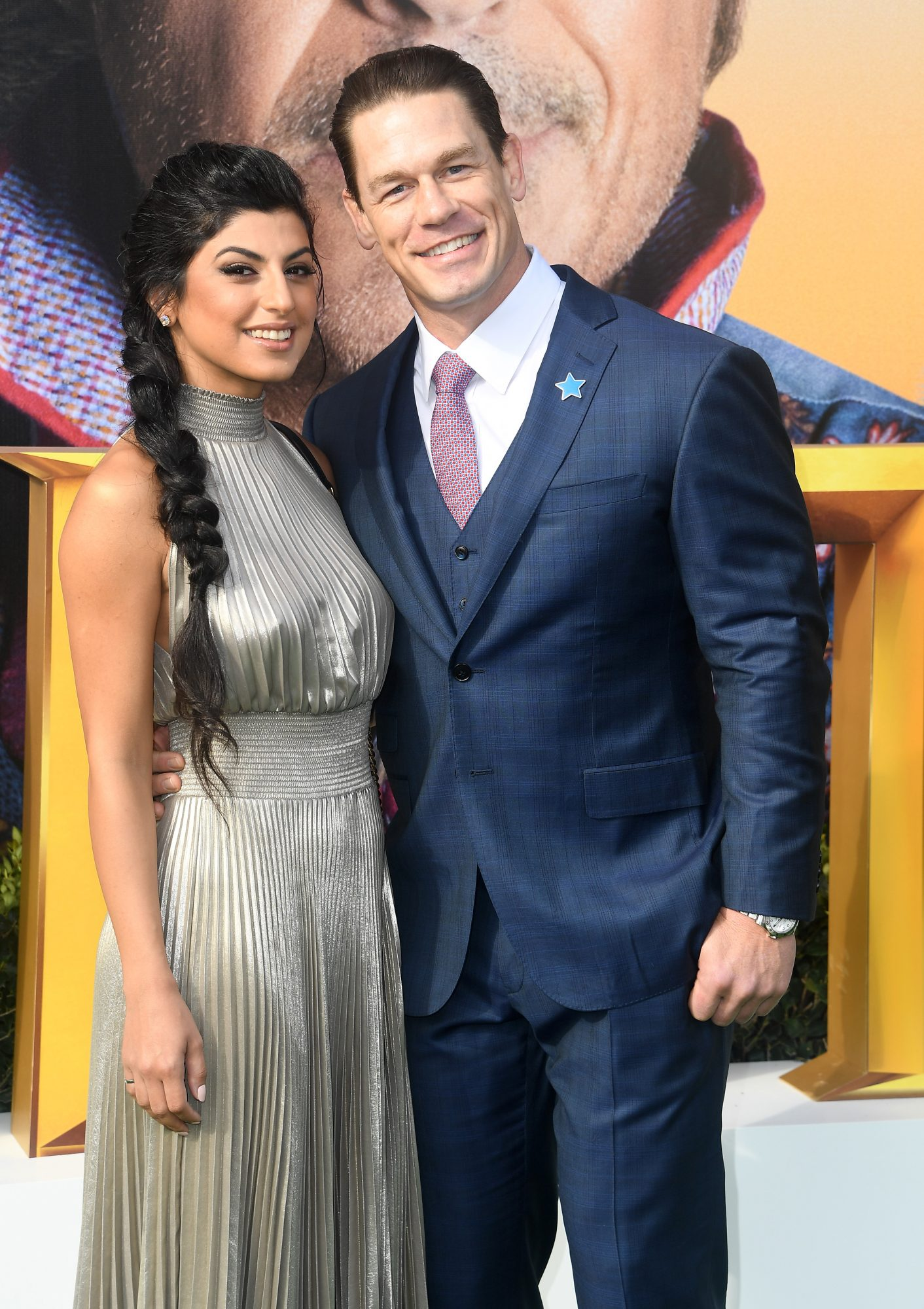 john cena and shay shariatzadeh premiere of dolittle universal pictures