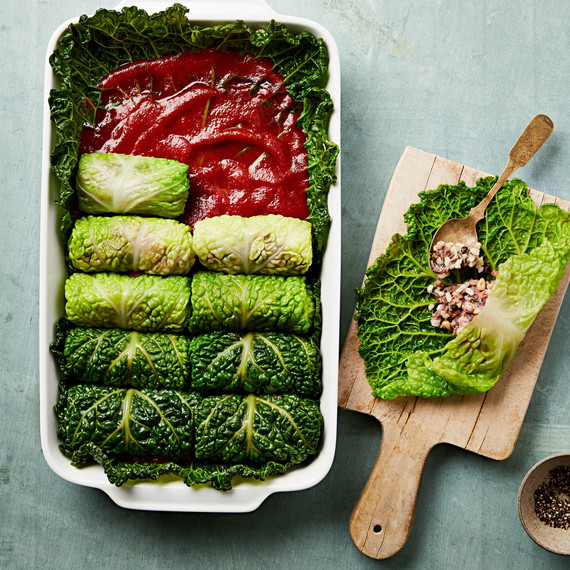 Lamb-and-Rice-Stuffed Cabbage