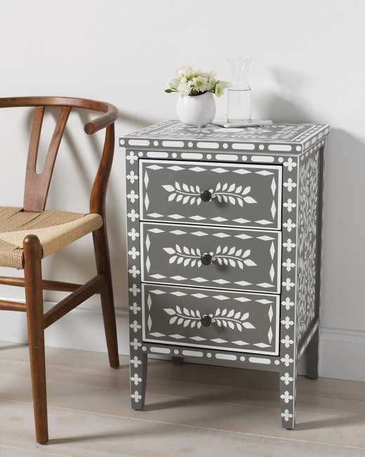 Moroccan inlay stenciled table