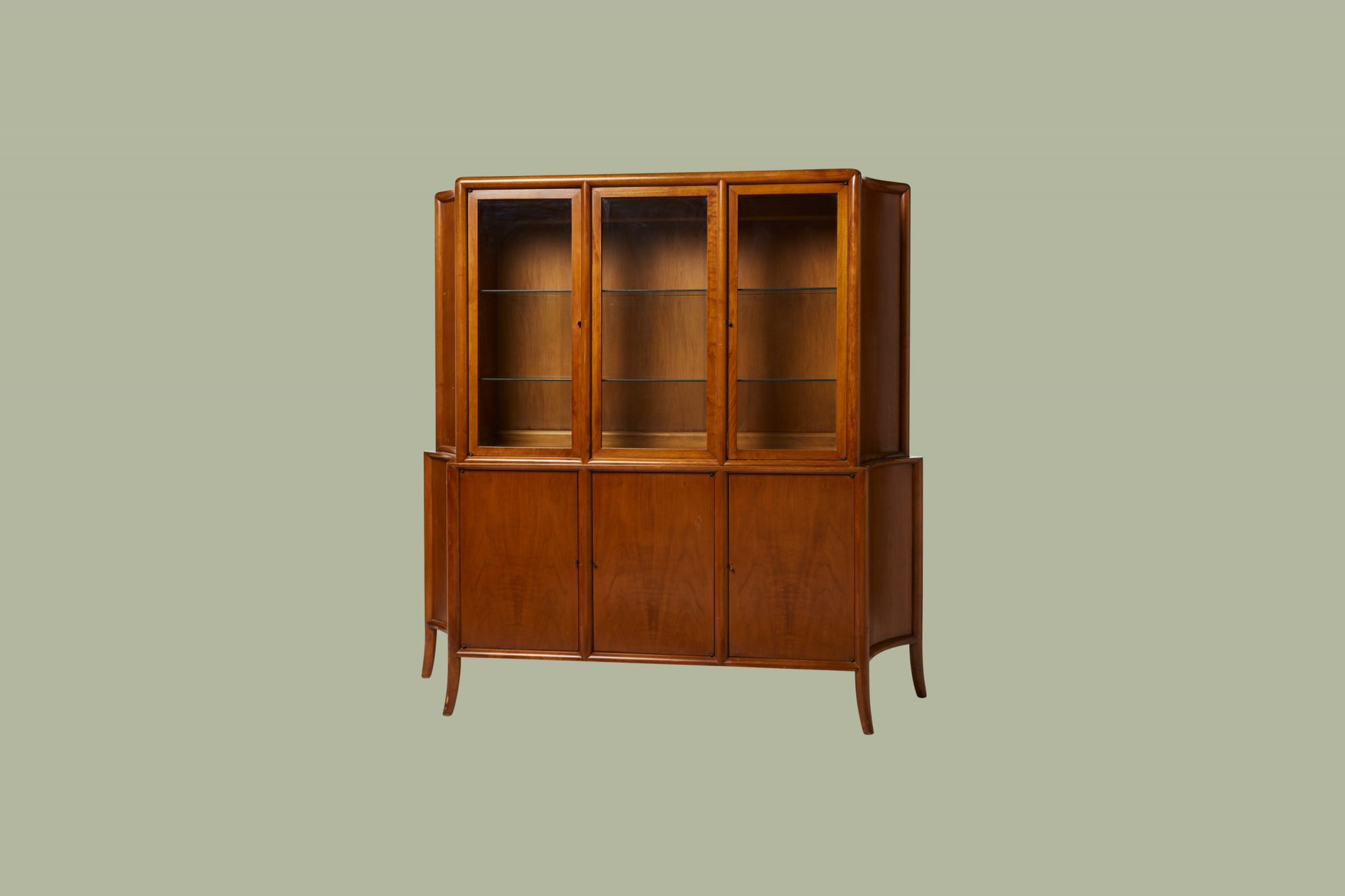 old-fashioned china cabinet