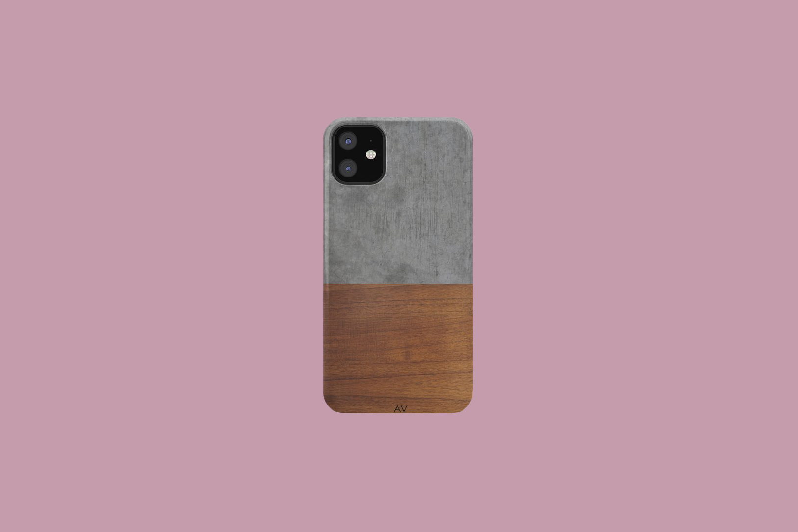 Andre Vieira Concrete and Wood Luxury iPhone Case