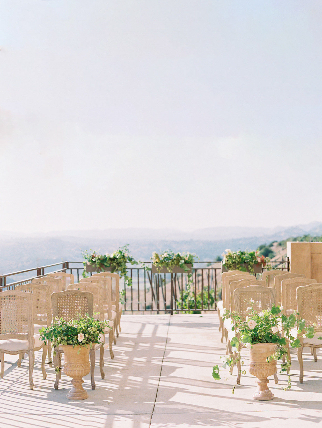 wedding ceremony location deck overlooking mountains
