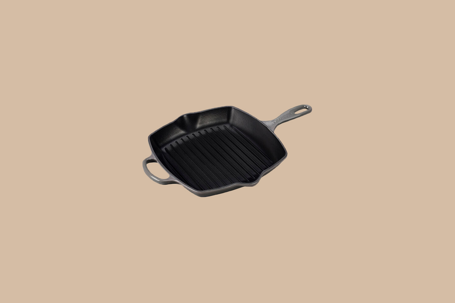 Le Creuset Signature Square Skillet Grill in Oyster