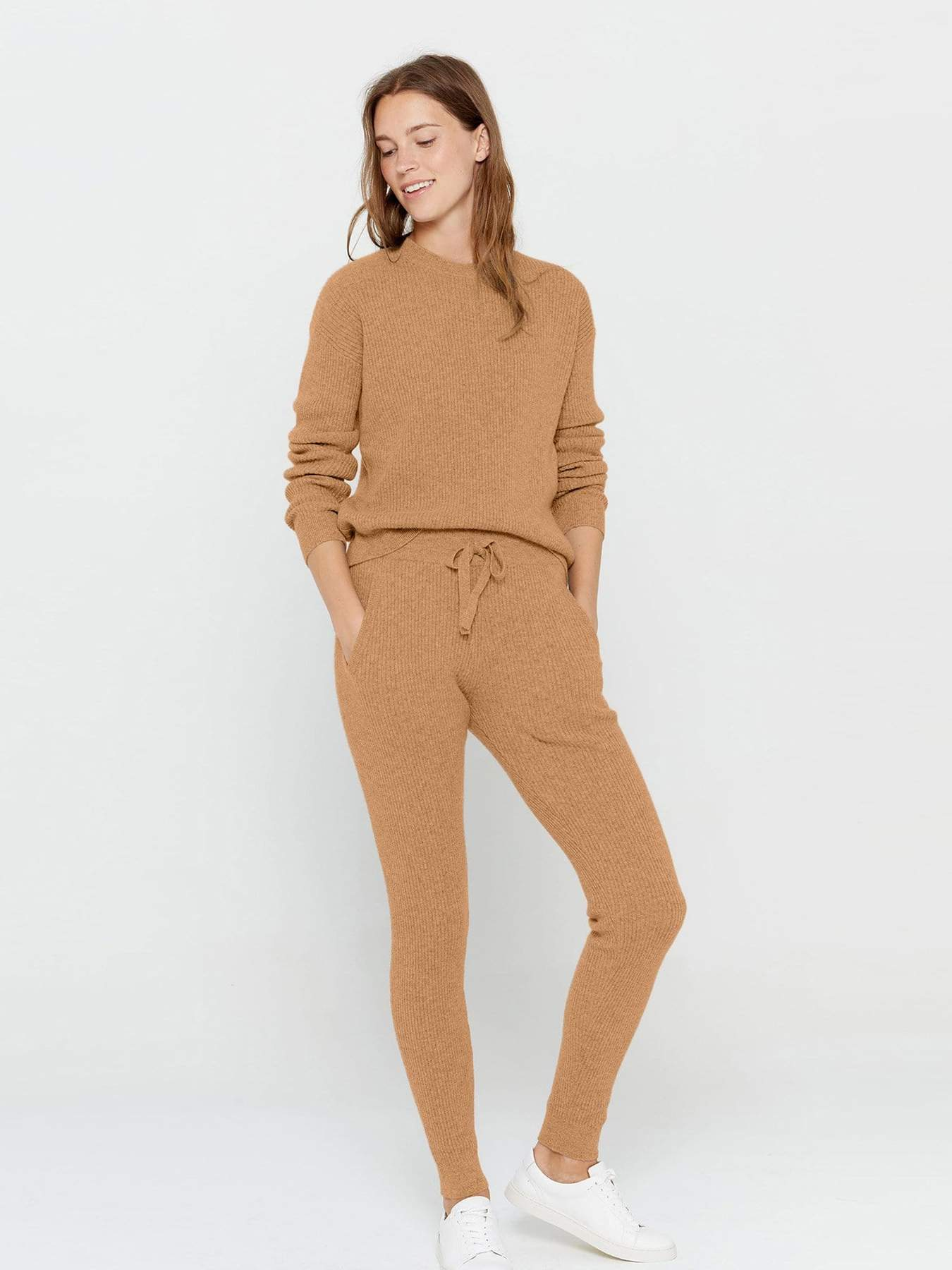 State Cashmere Long Sleeve Crew Neck Cashmere Sweater
