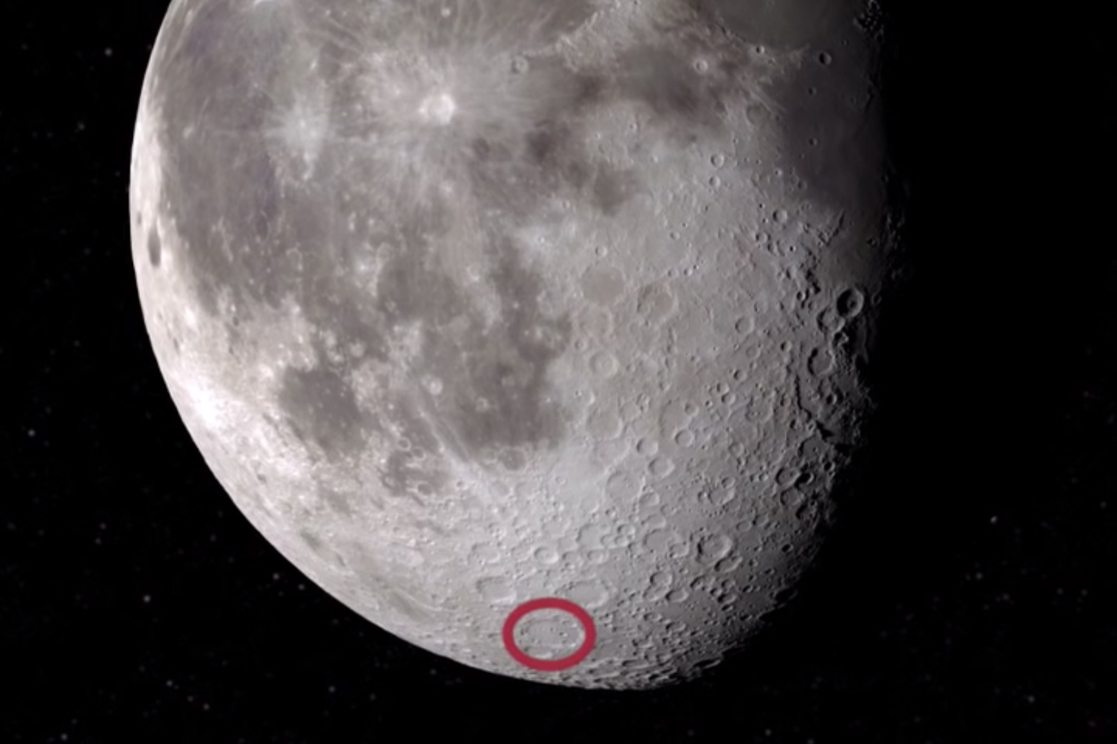 location where water was discovered on moon