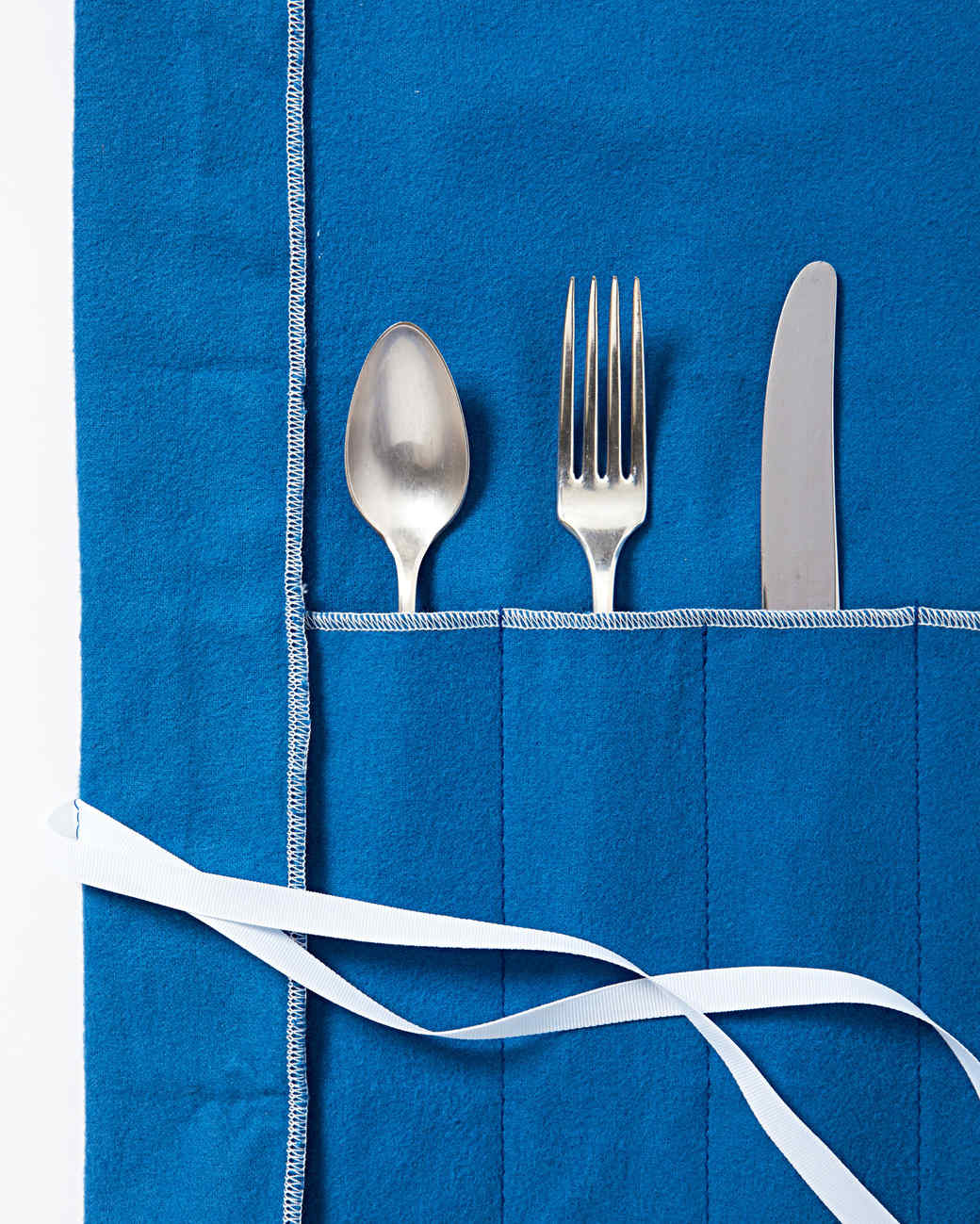silverware in flannel cover