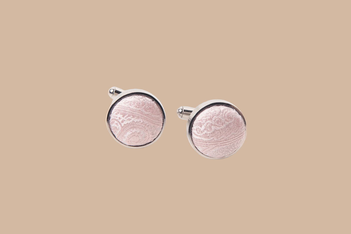 hawes and curtis mens paisley silk cufflinks in light pink