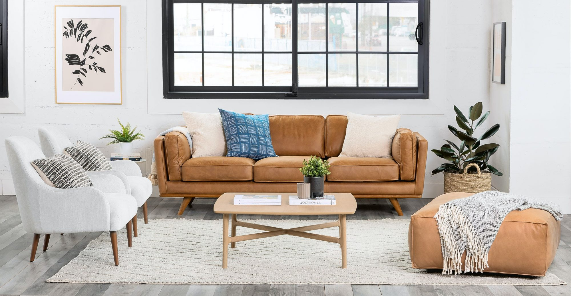 """Article """"Timber"""" Leather Sofa"""