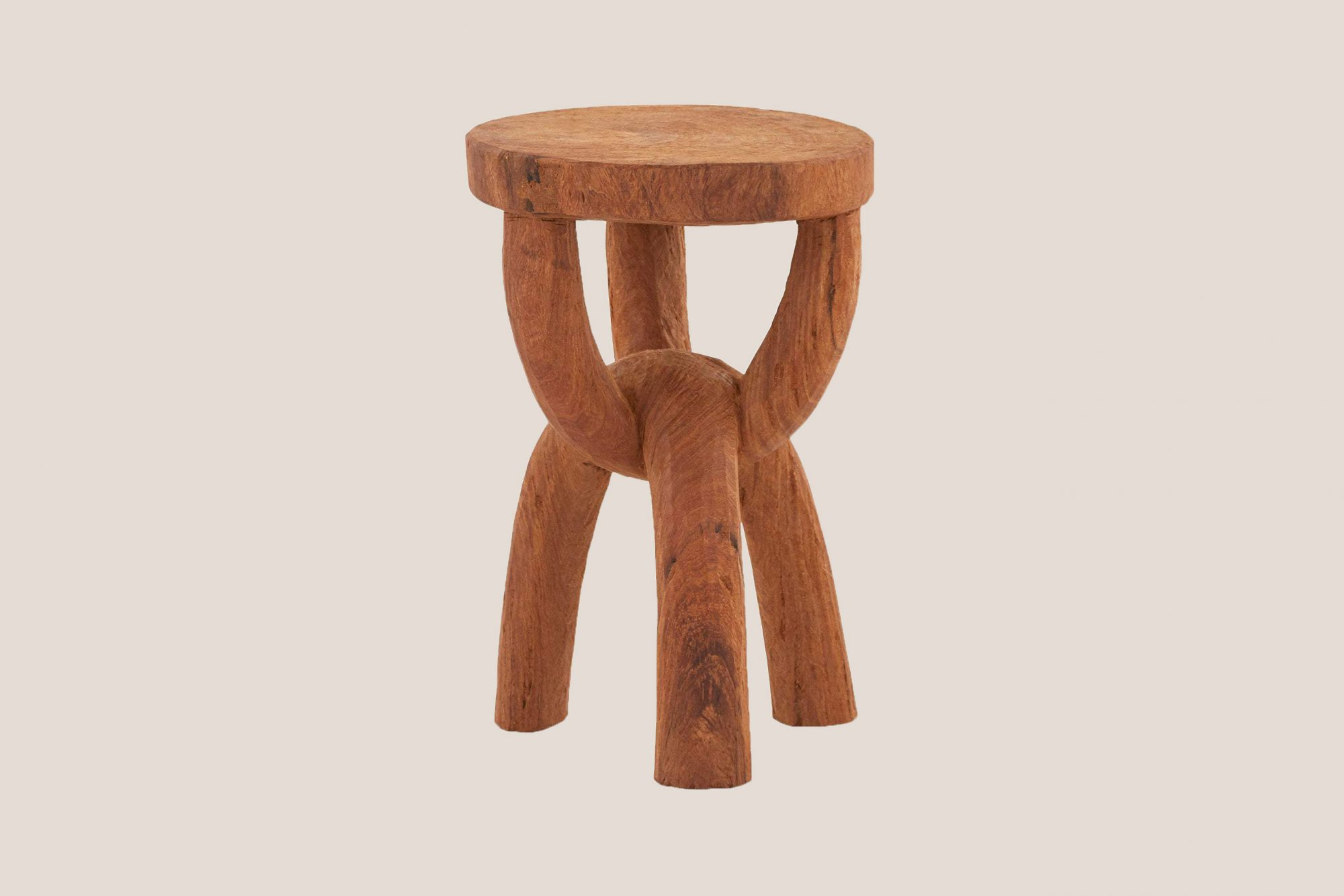 """Jayson Home """"Chain"""" Carved Stool"""