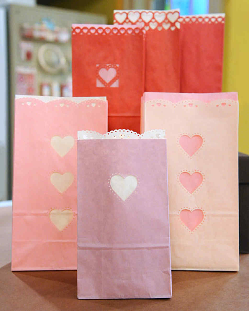 valentine's day paper gift bags