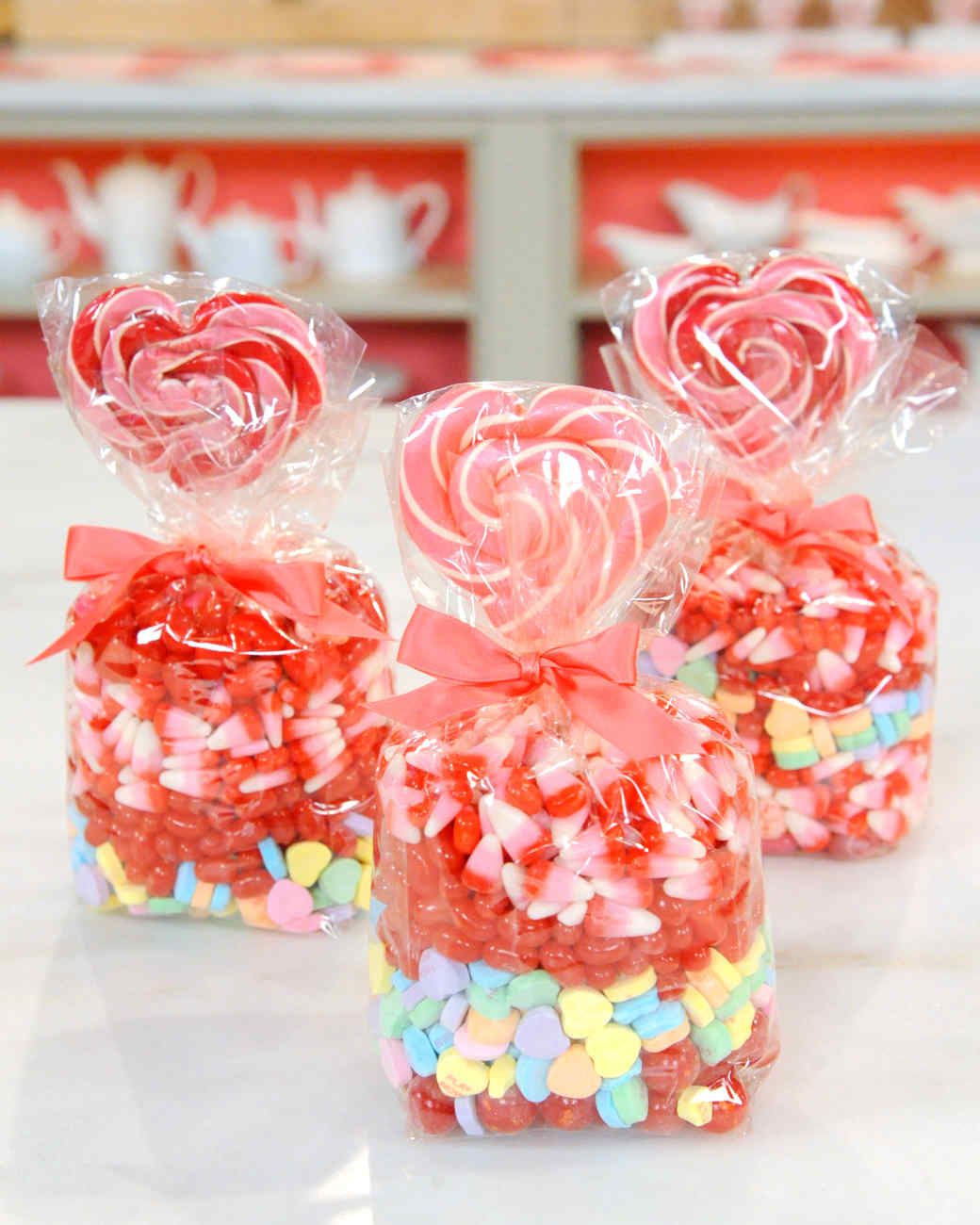 valentine's day candy cellophane bags