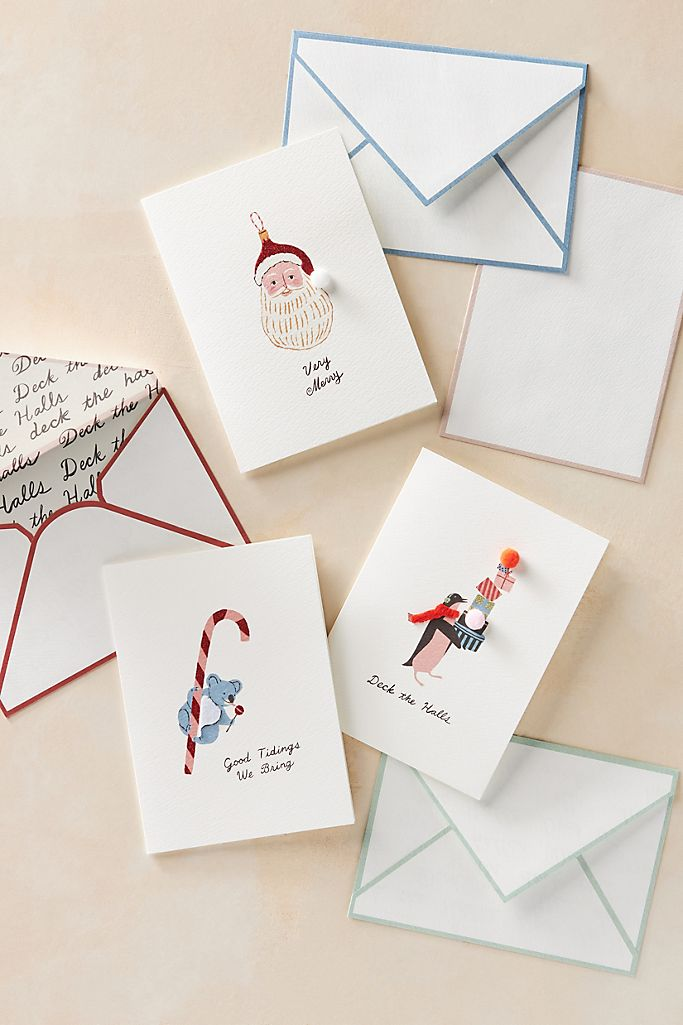 set of holiday cards
