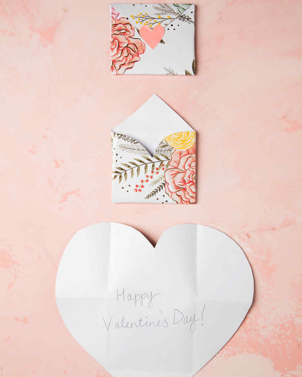 folding heart envelopes multistep