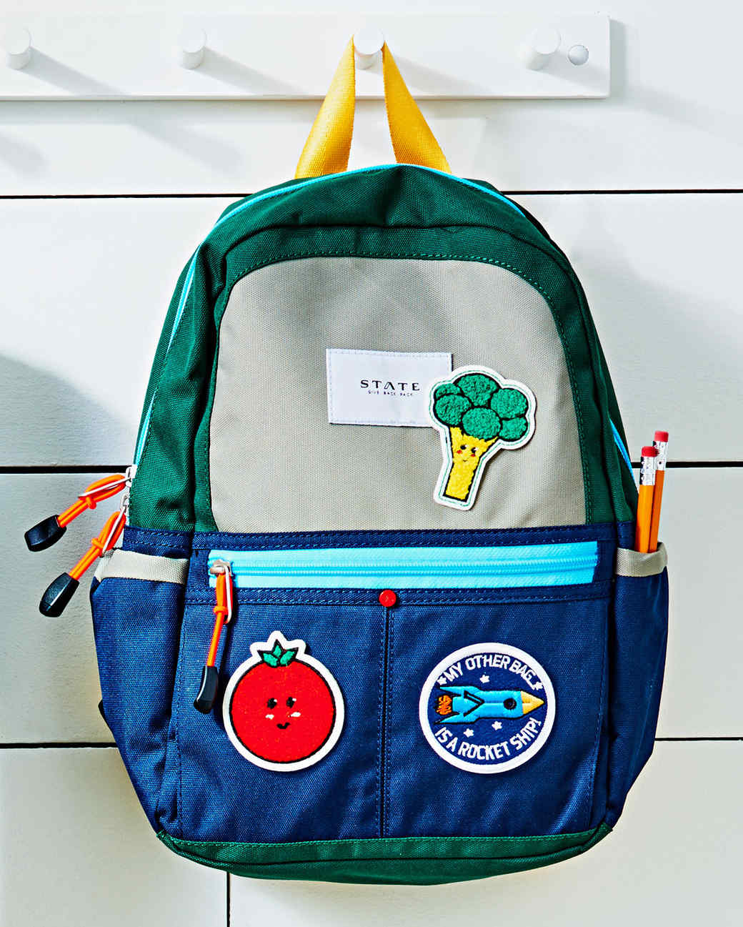 personalized backpack with patches