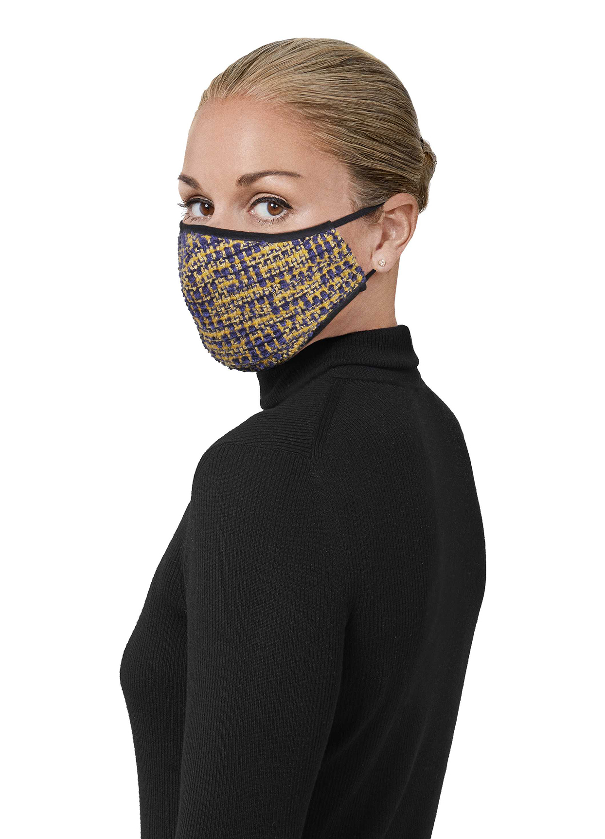 St. John Boucle Fitted Tweed Mask