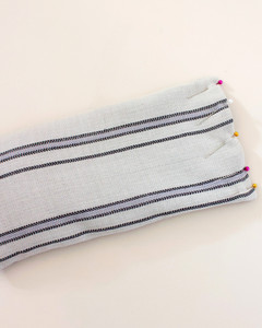pinning and sewing top of lavender eye pillow