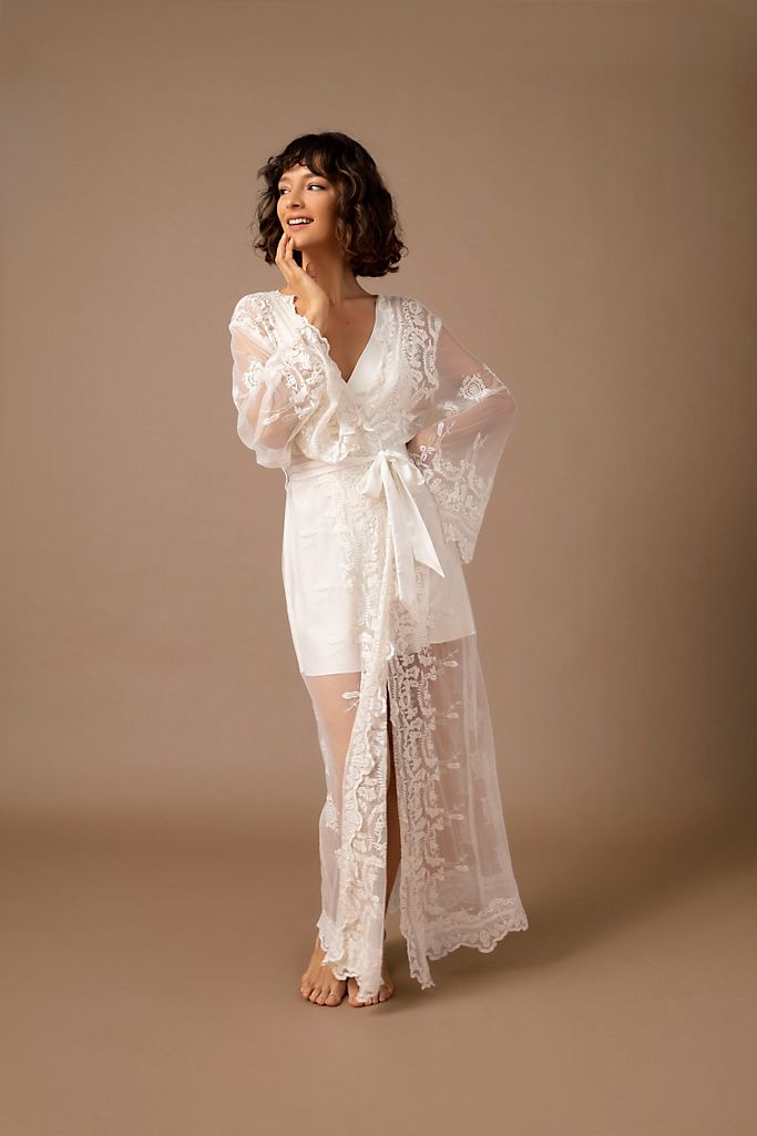 "Homebodii ""Madona"" Lace Robe"