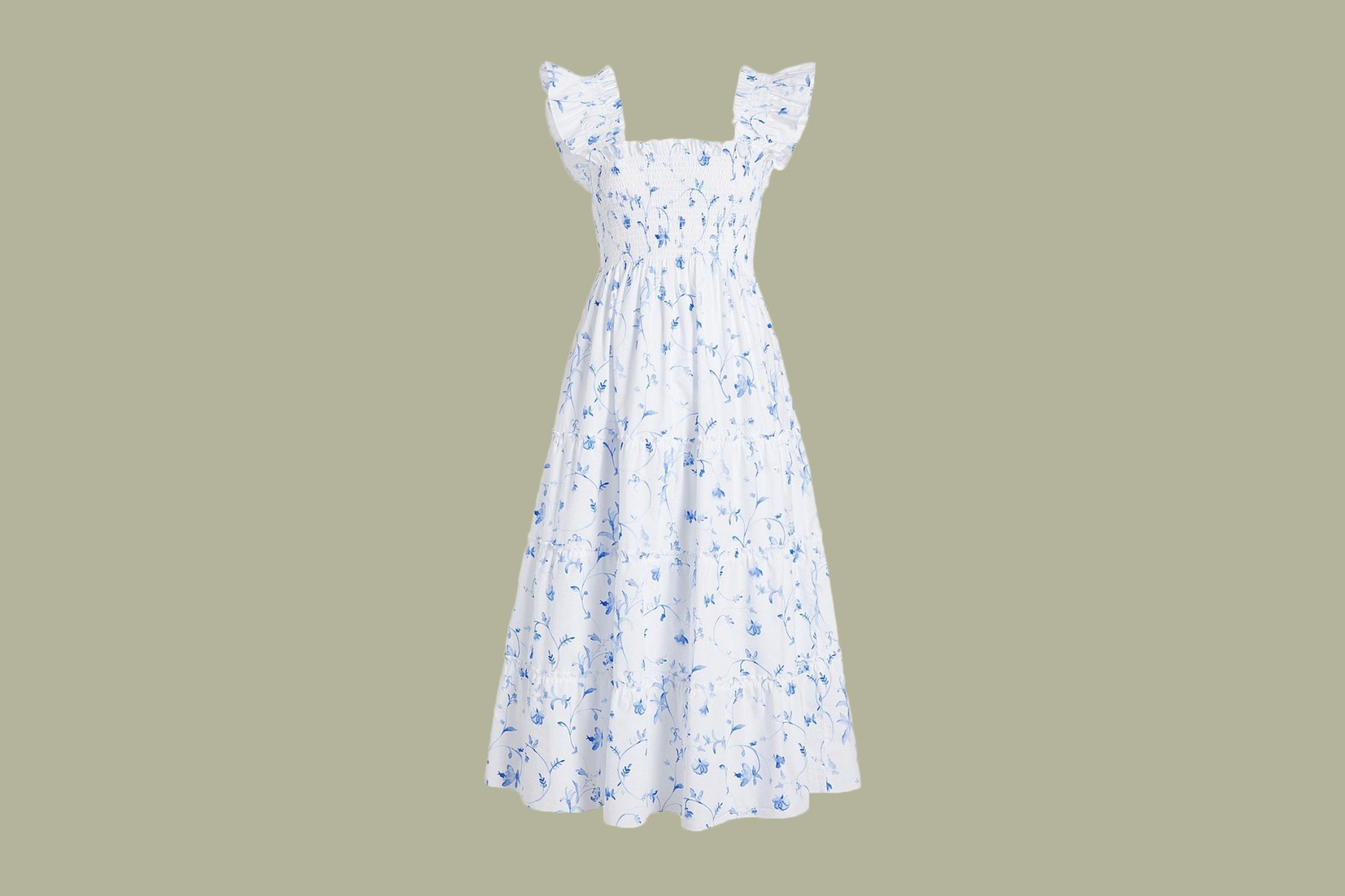 "Hill House ""The Ellie"" Nap Dress in Blue Botanical"