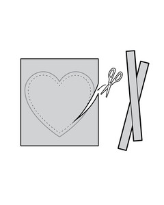 cutting heart of out paper illustration