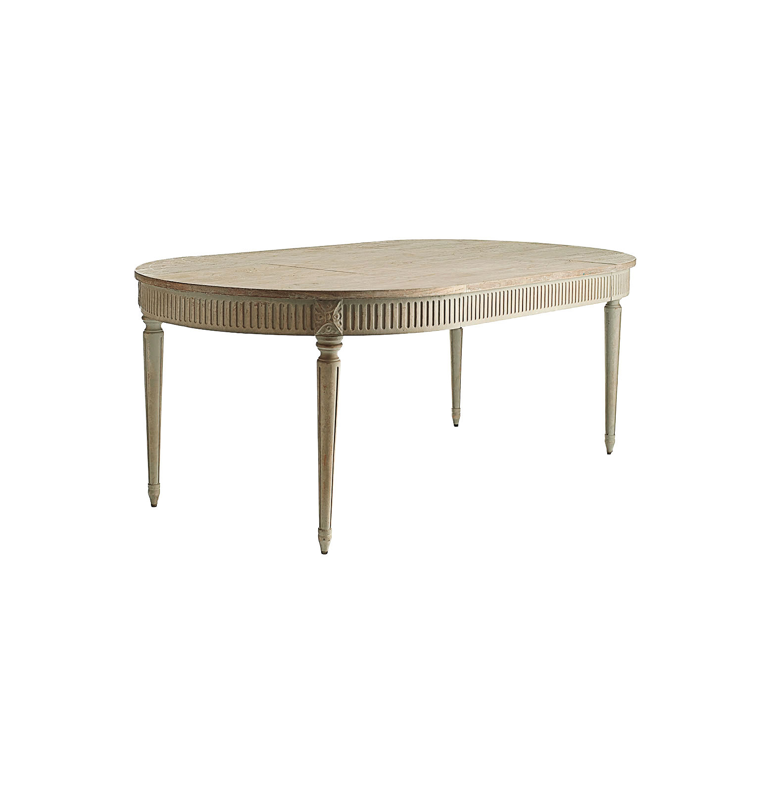 rounded dining room table