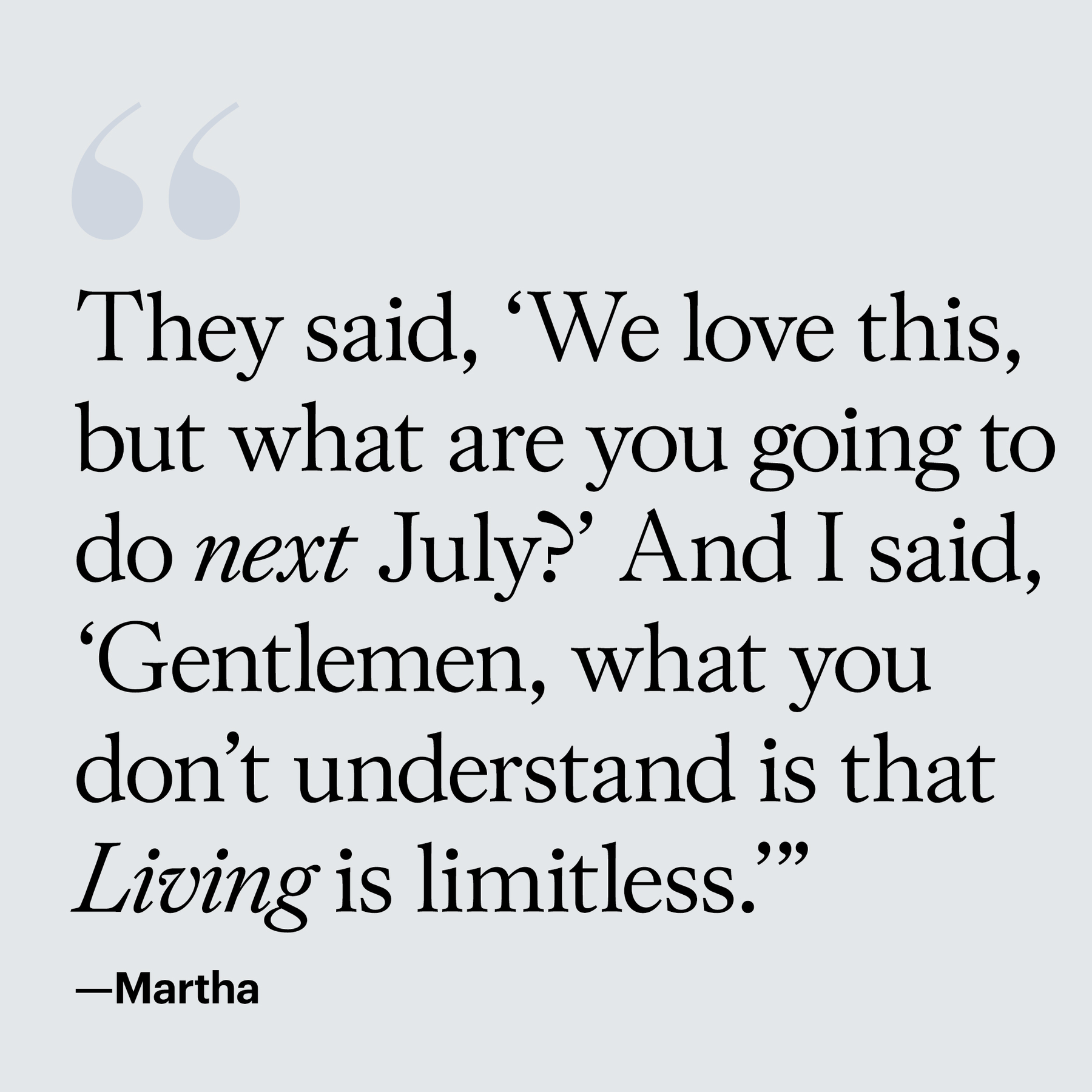 martha stewart living martha quote