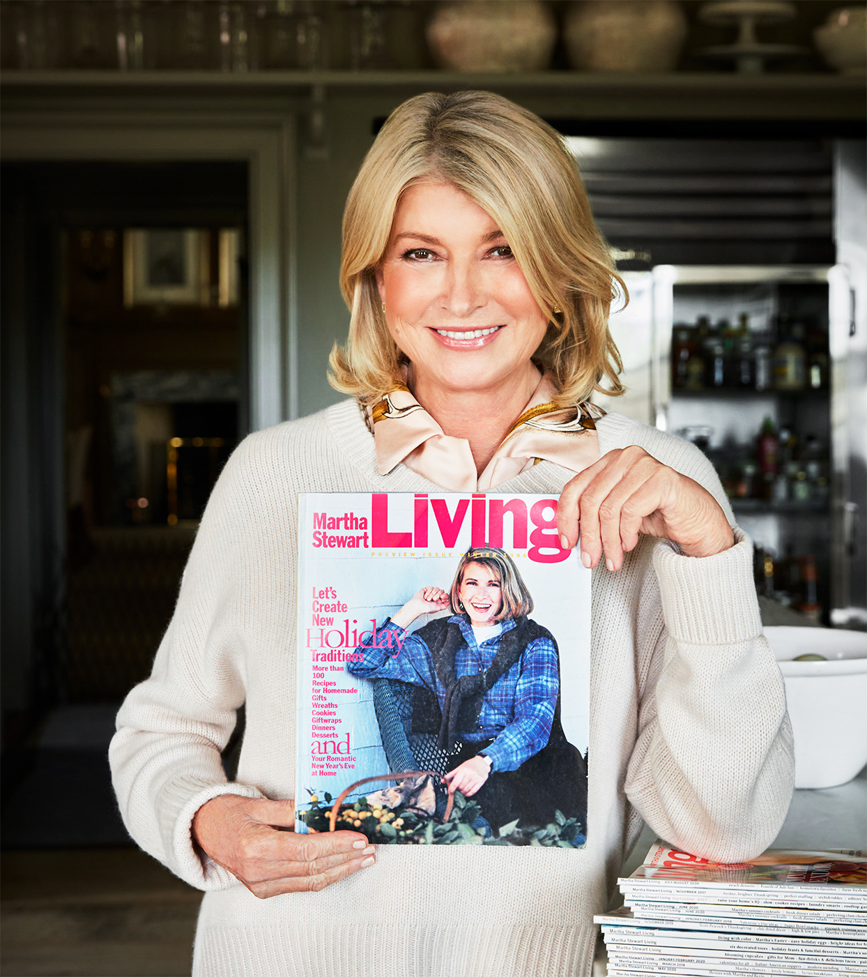 martha holding first martha stewart living cover