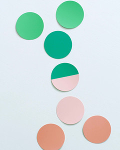 round paint swatches shaping into family tree