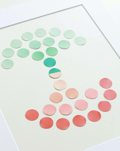 angled view of paint swatch family tree in frame
