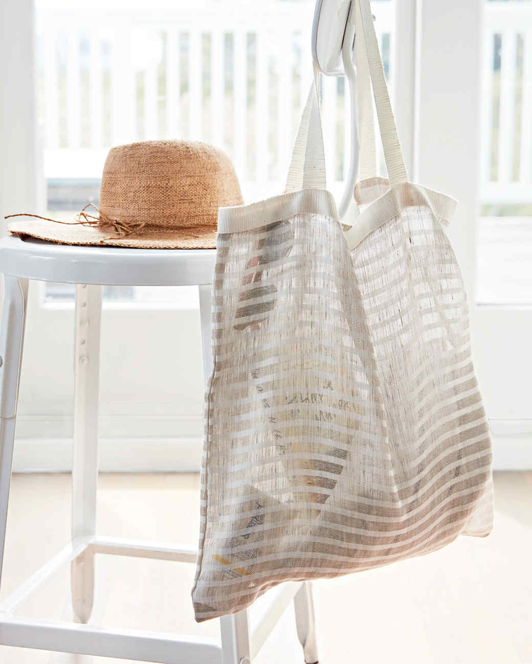 sheer tote back for the beach