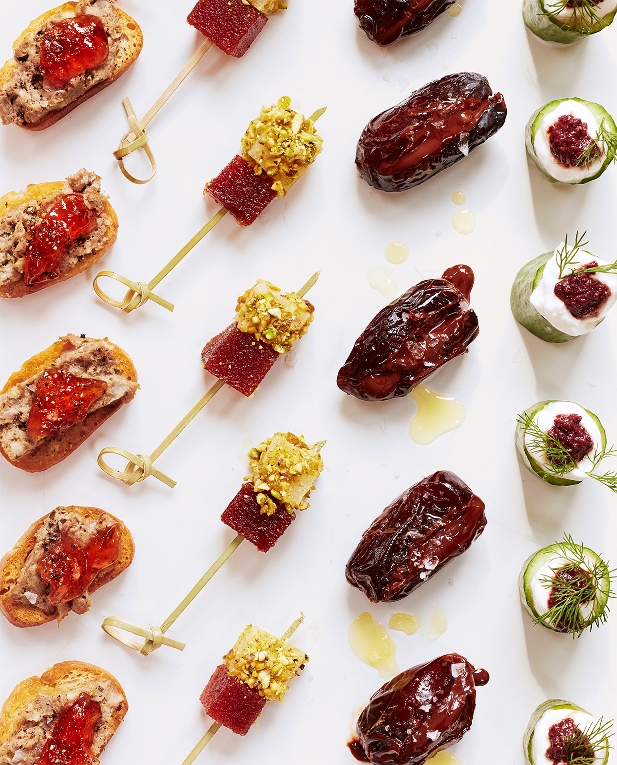 selection of holiday hors d'oeuvres