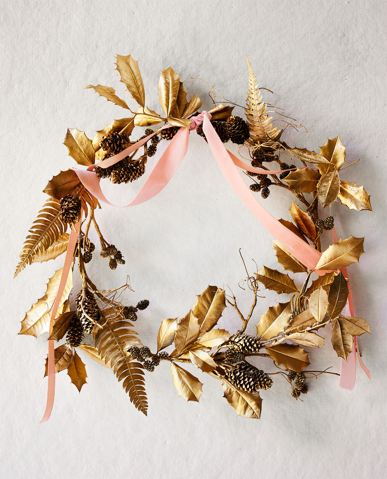golden foliage fall and holiday wreath