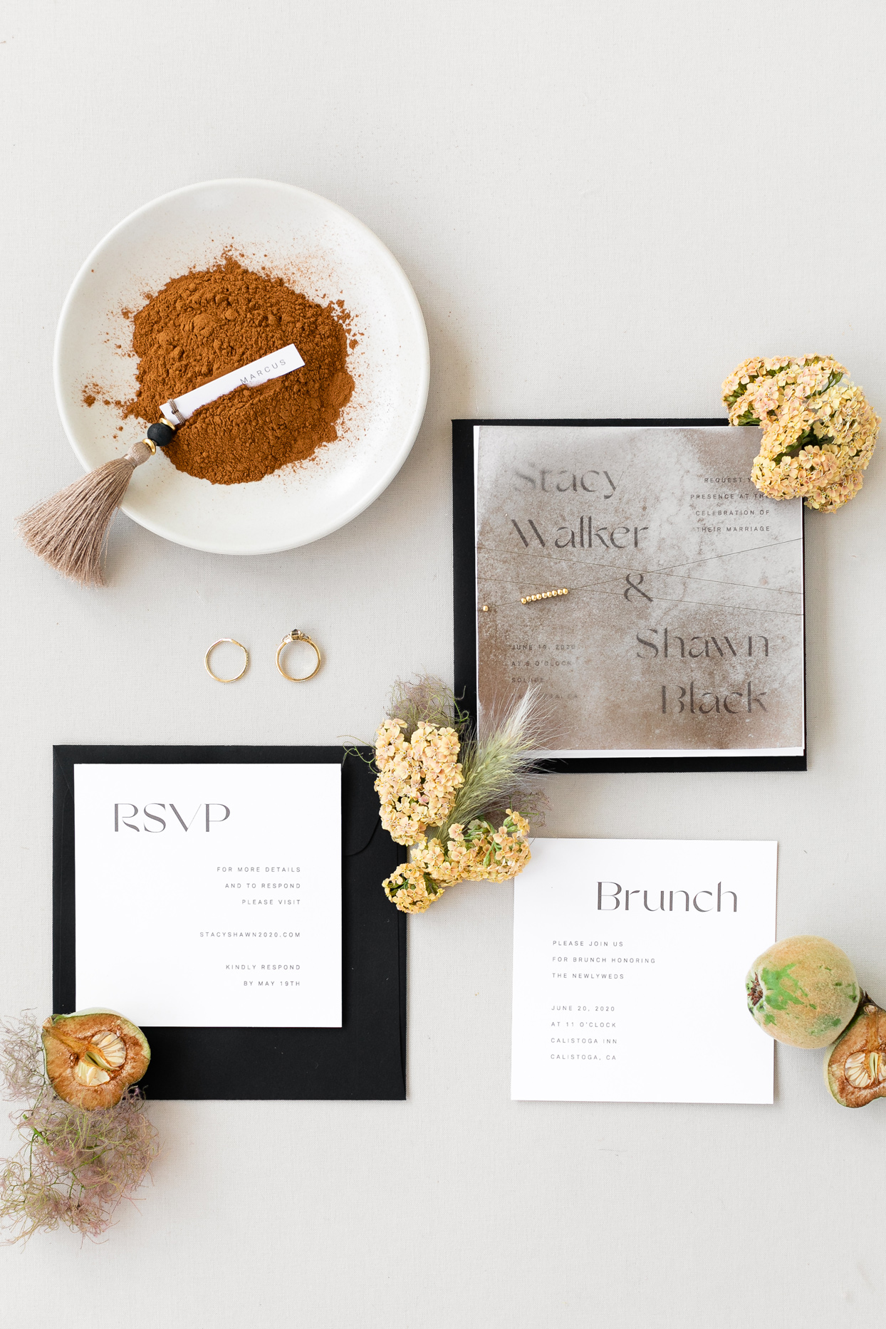 simple clean wedding stationery suite