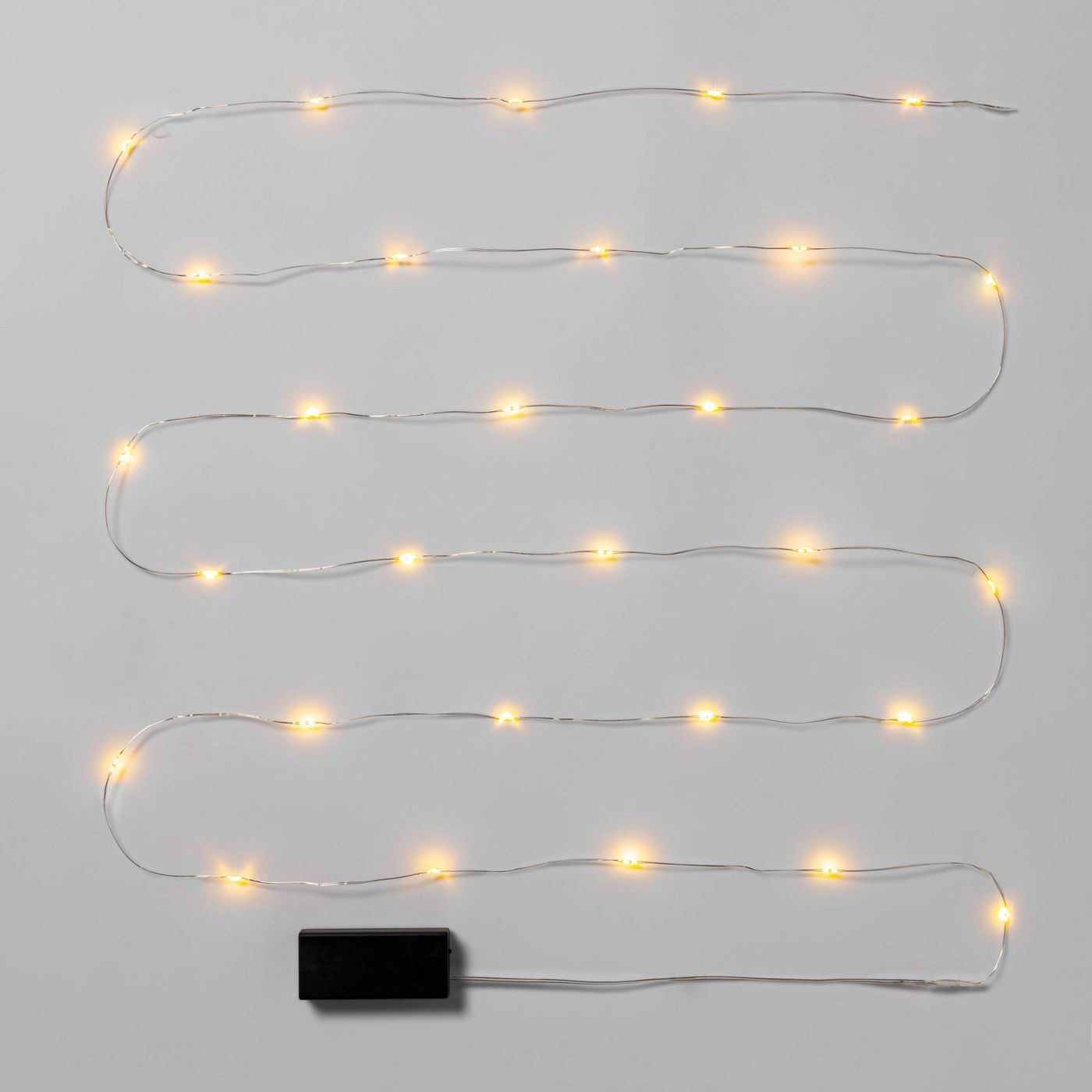 Wondershop Christmas Battery Operated LED String Fairy Lights in Warm White Silver Wire