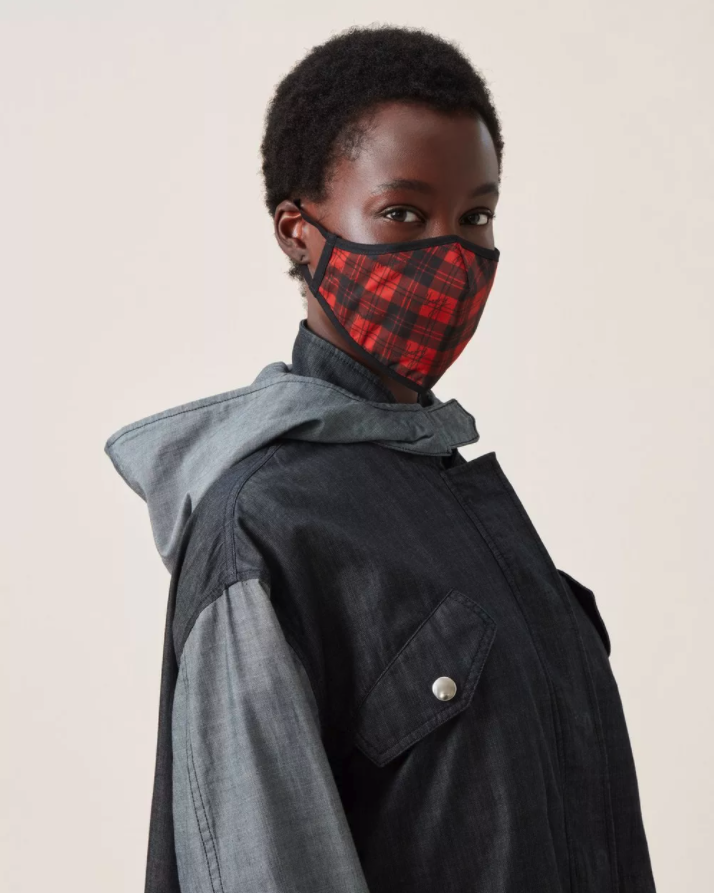 Mulberry Tartan Check Face Covering