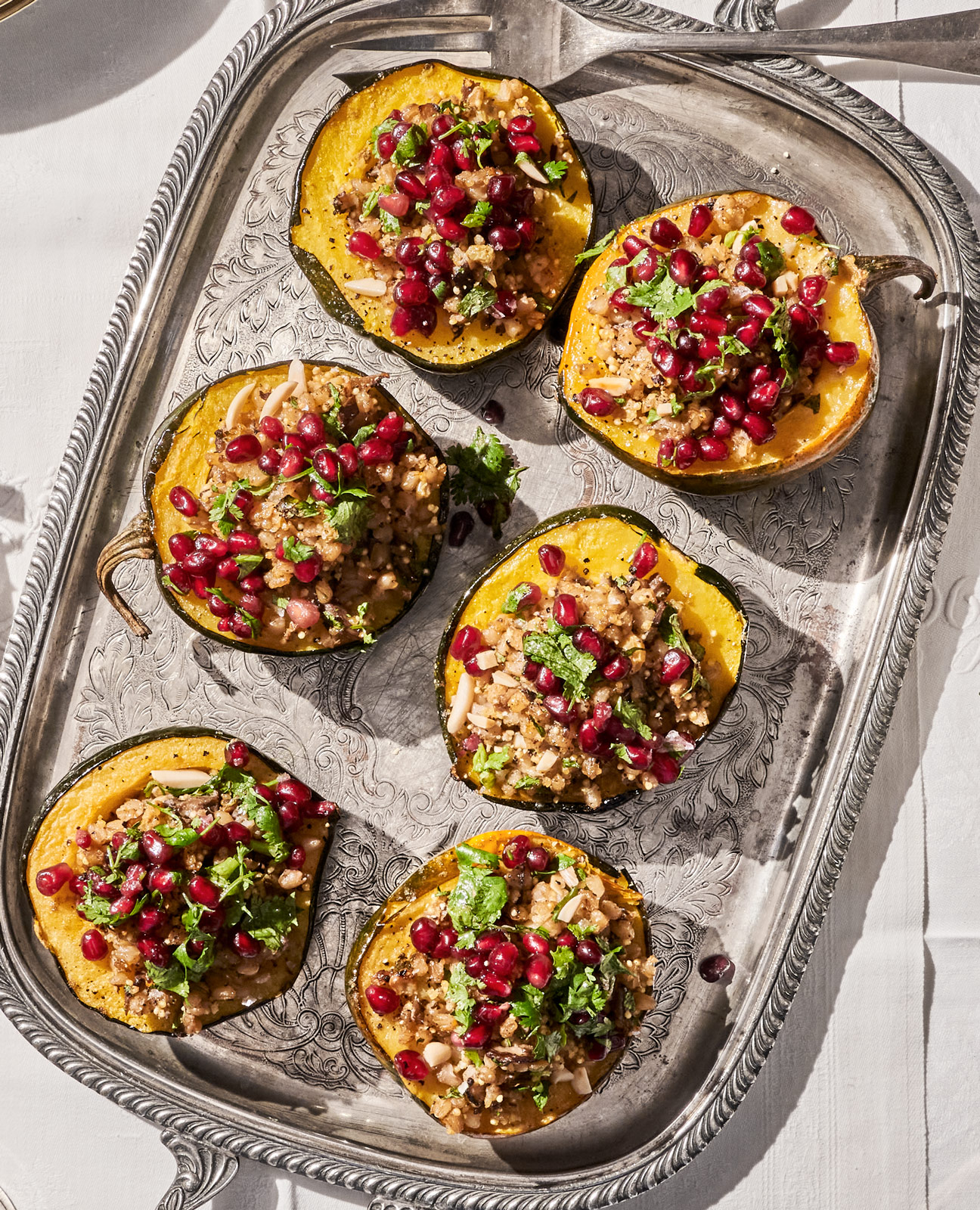 Acorn Squash With Mixed-grain Stuffing
