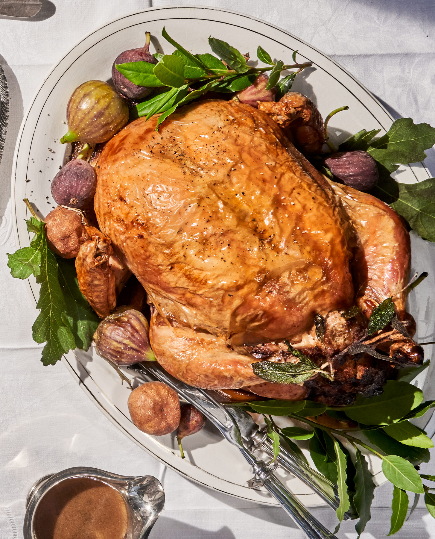 roast capon-fig-and-pancetta-stuffing