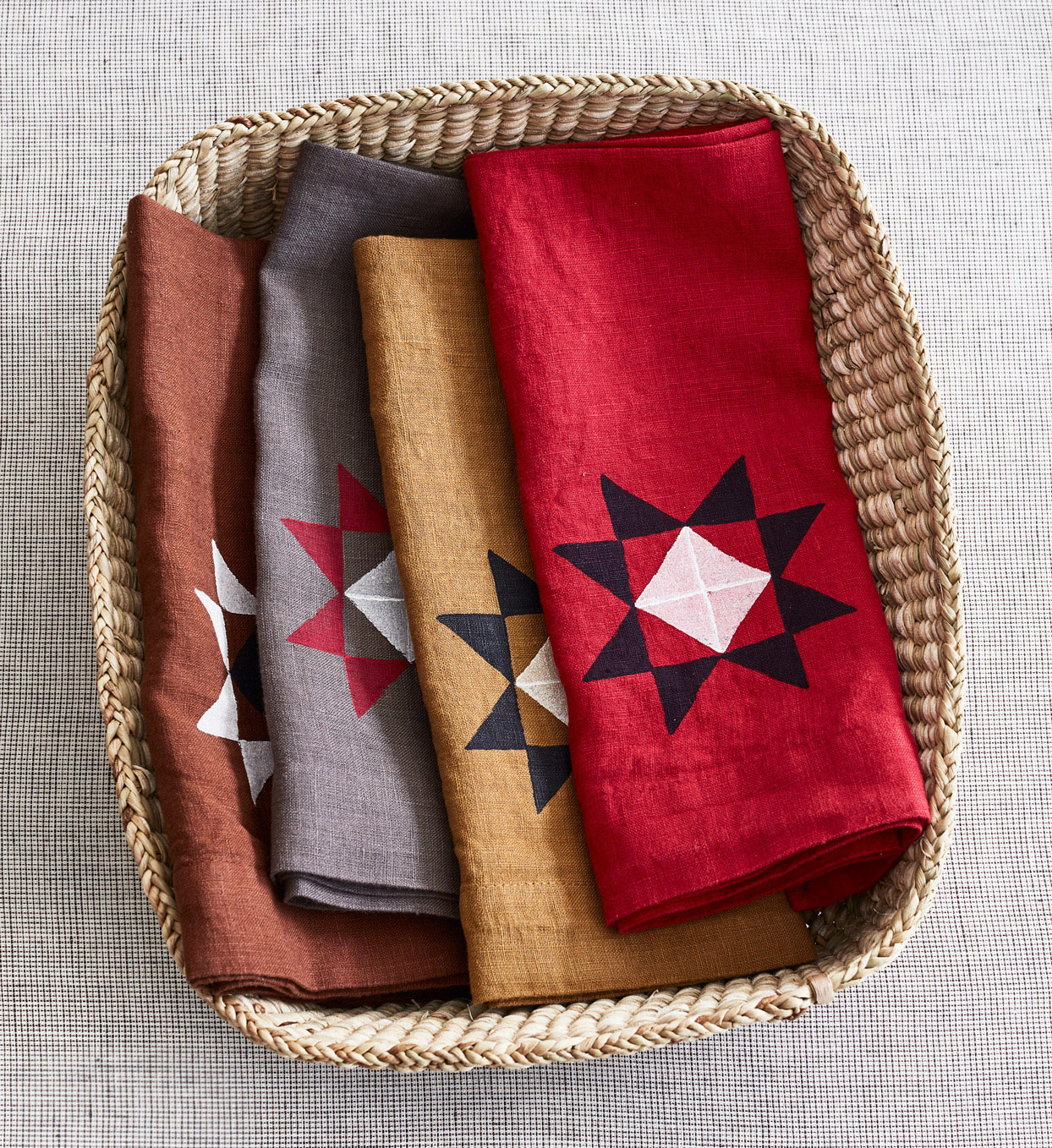 amish evening star napkins