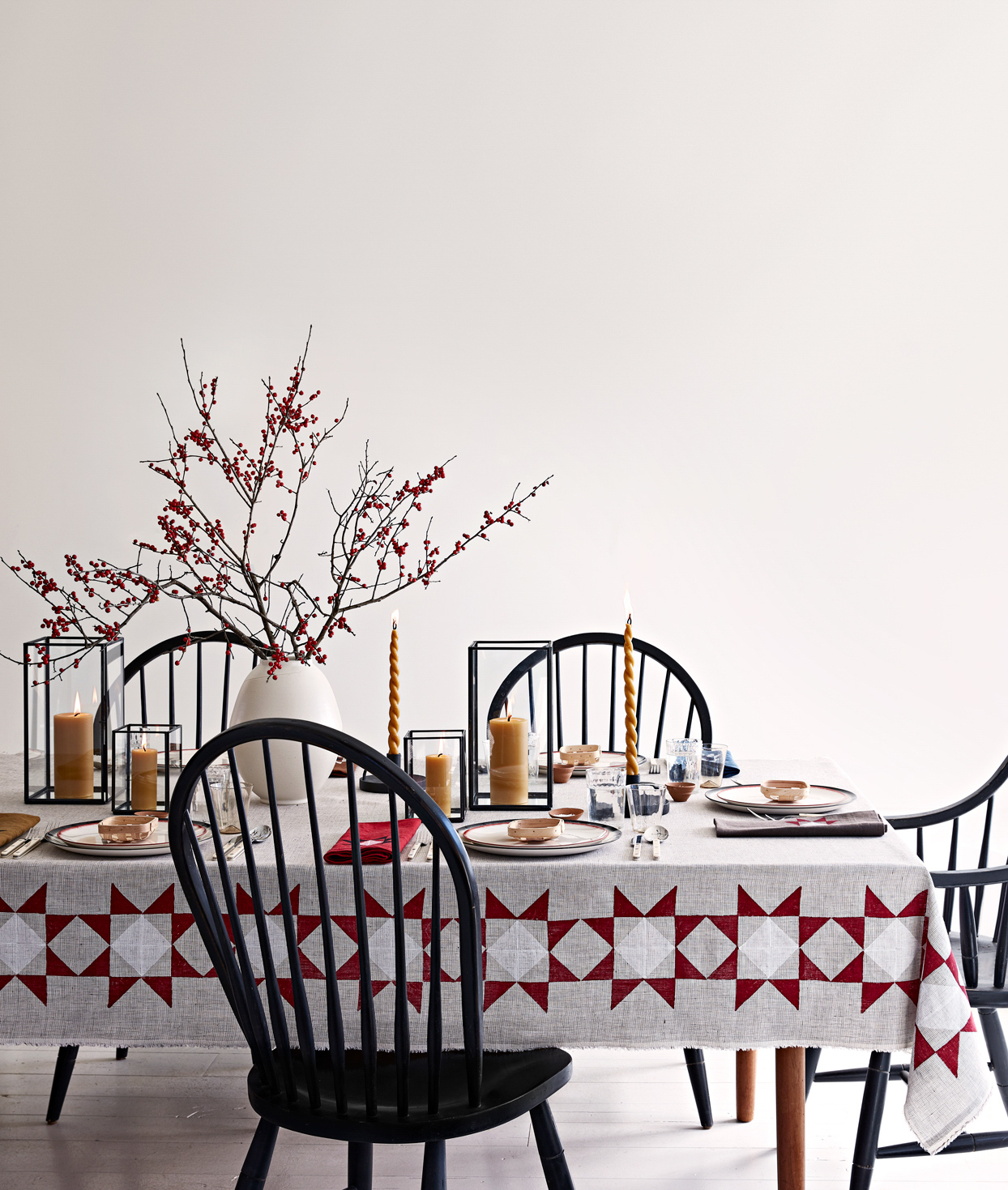 amish star tablecloth
