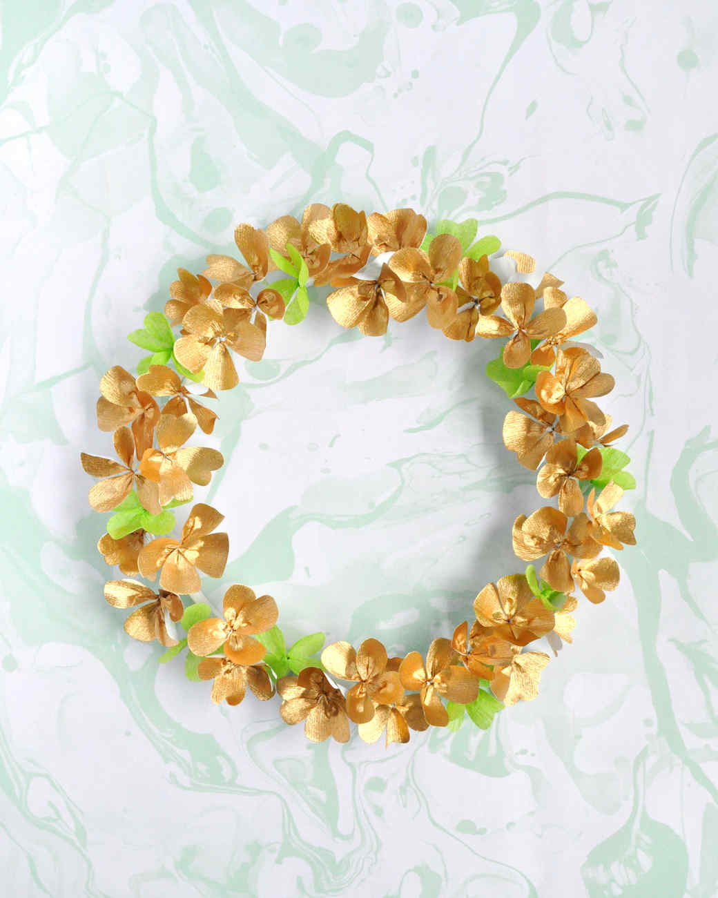 St. Patrick's Day clover wreath