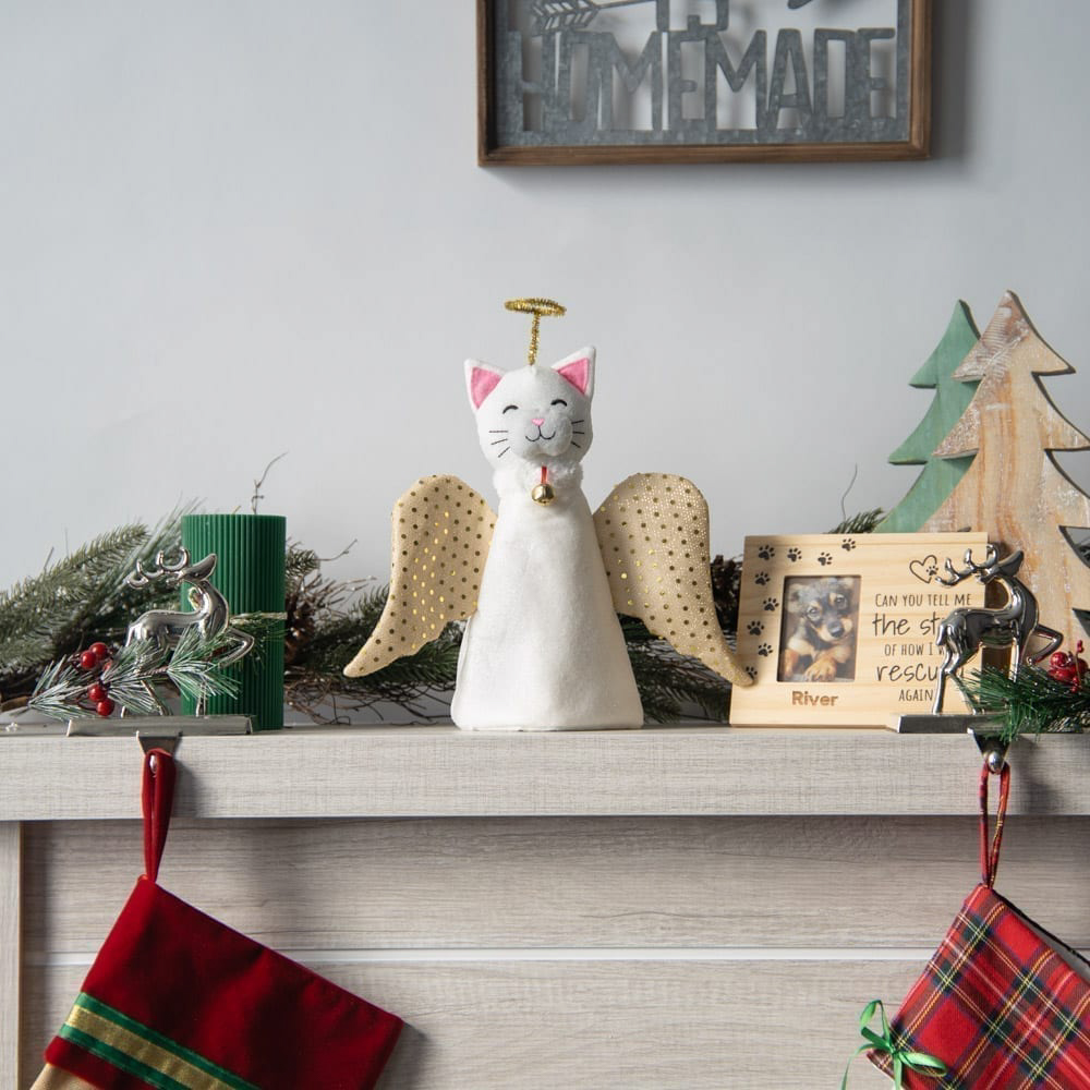 """A """"Christmas Miracle"""" Cat Artisan Tree Topper"""