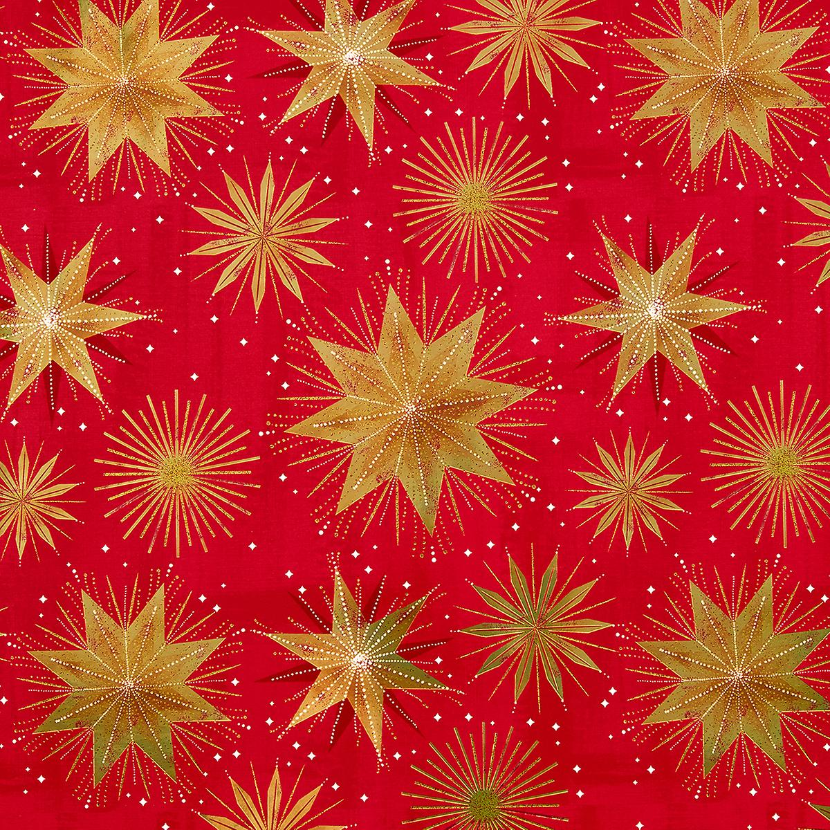 red and gold star wrapping paper
