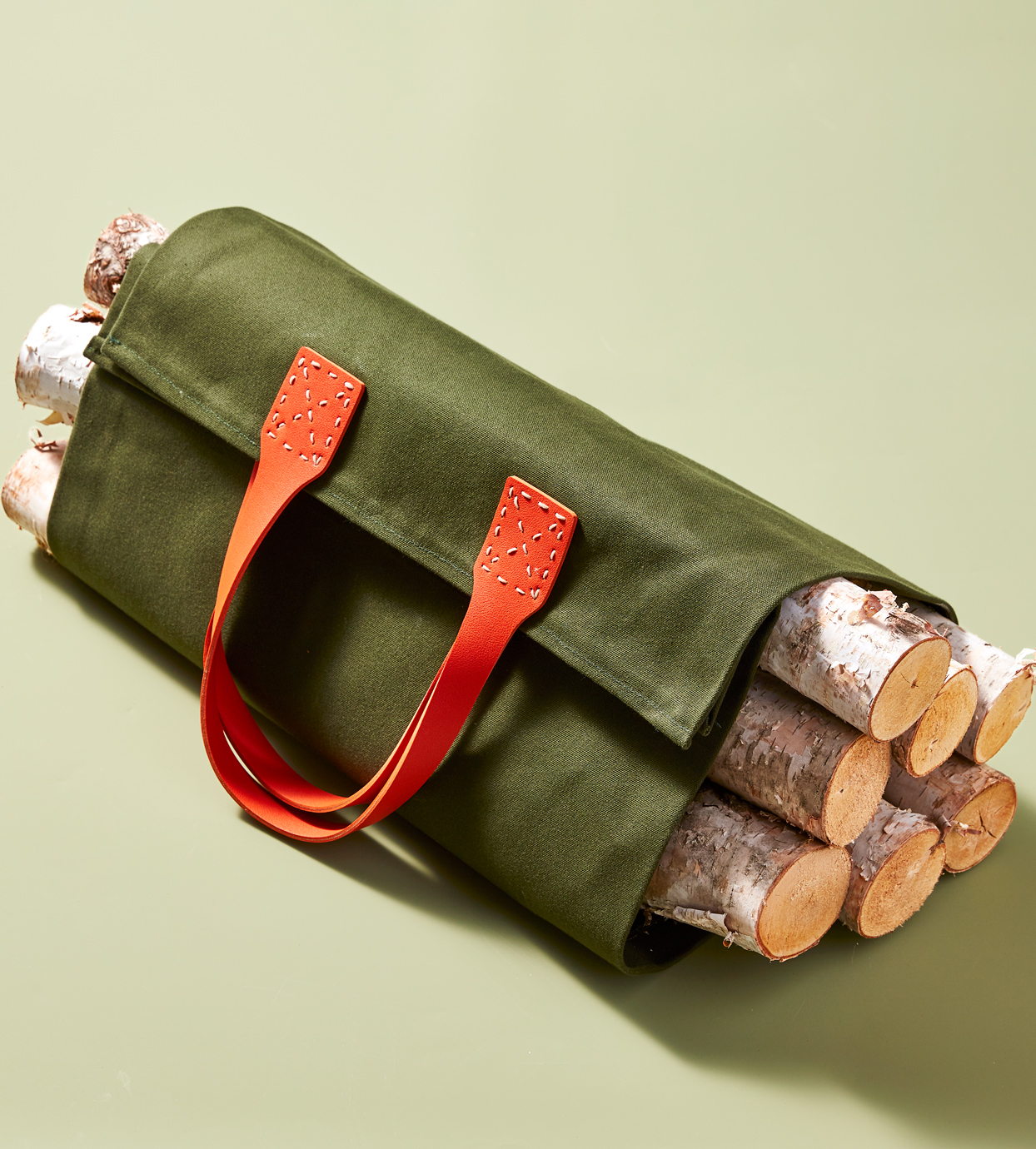 canvas wood carried bag