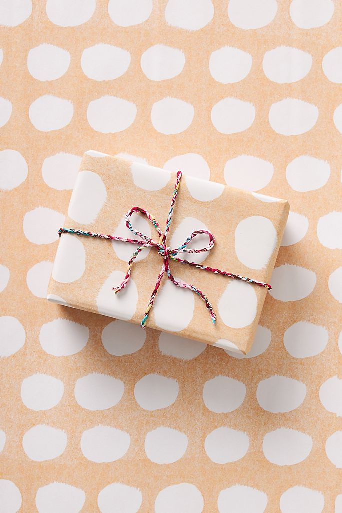 orange snowball wrapping paper