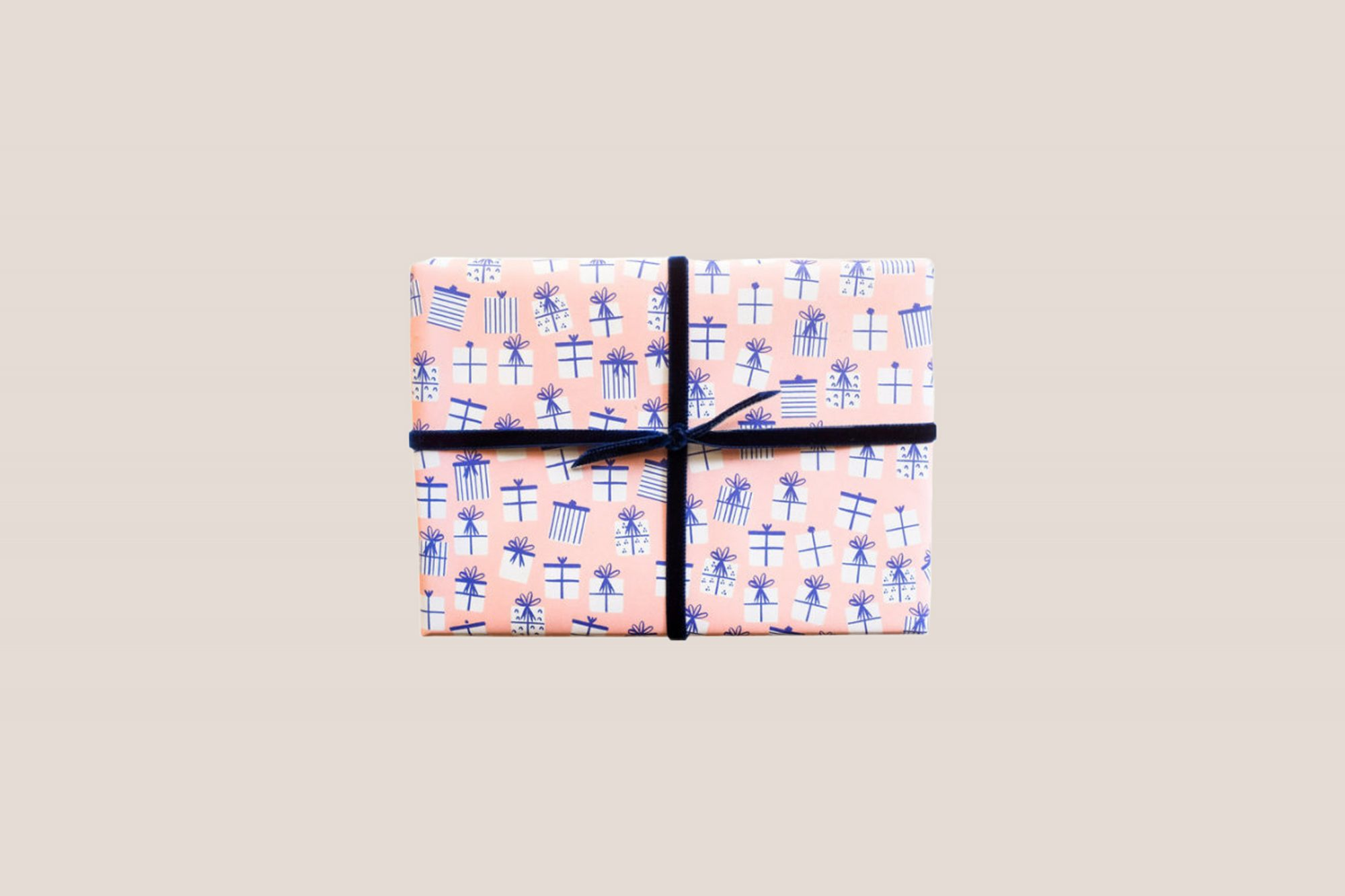 present with present wrapping paper
