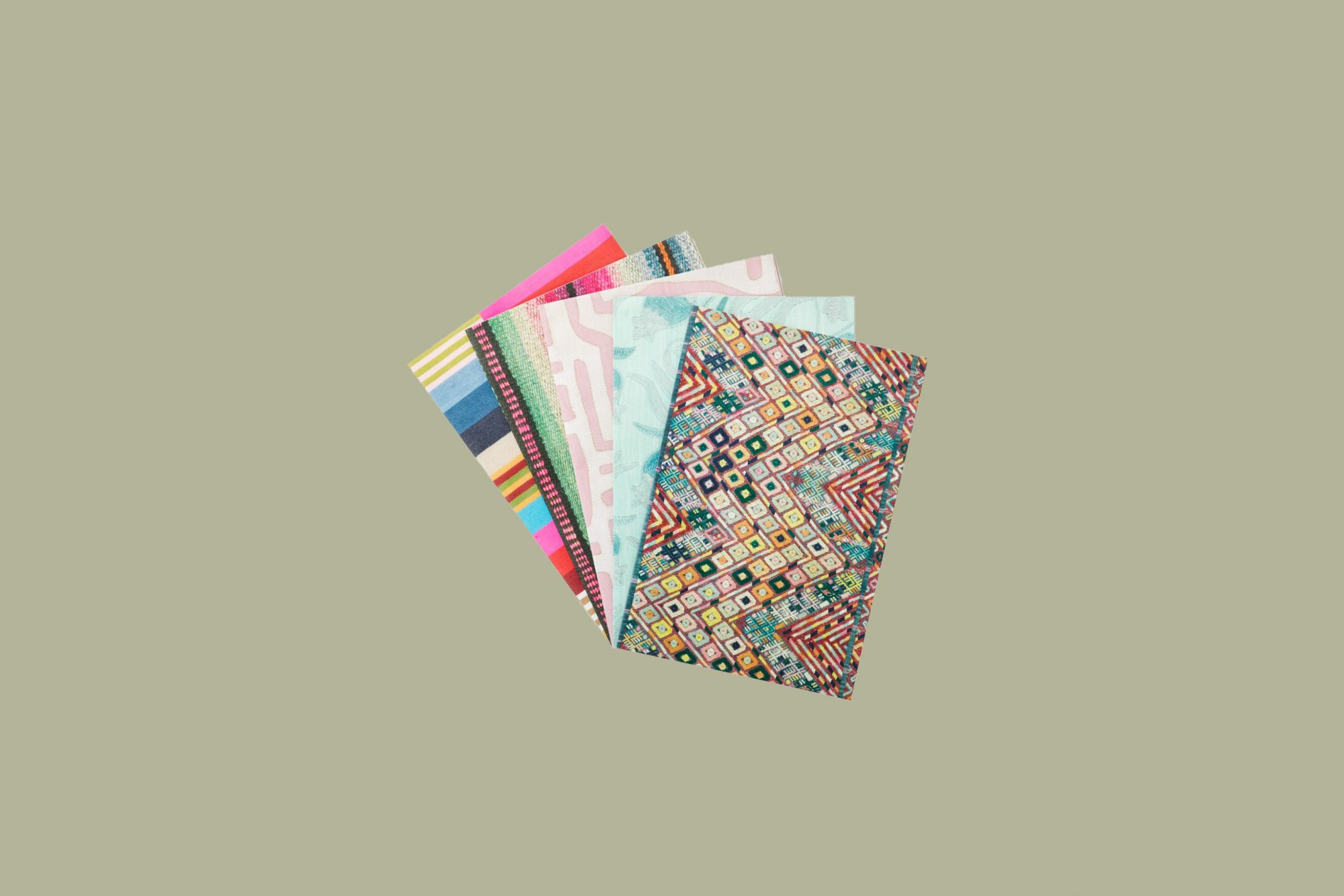 stack of patterned wrapping paper