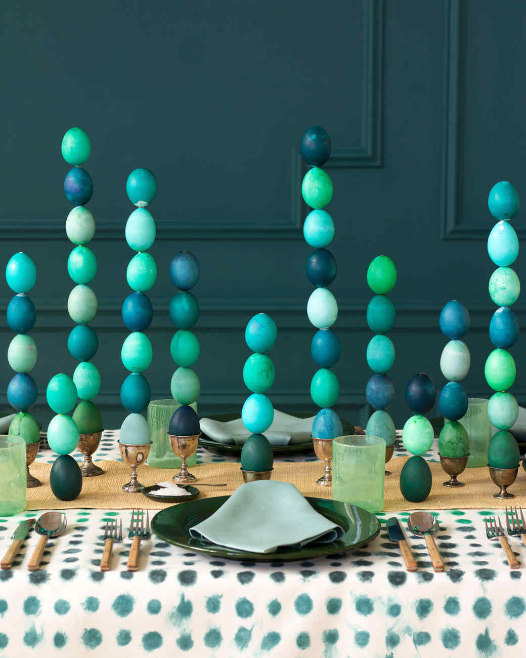 stacked Easter egg centerpiece