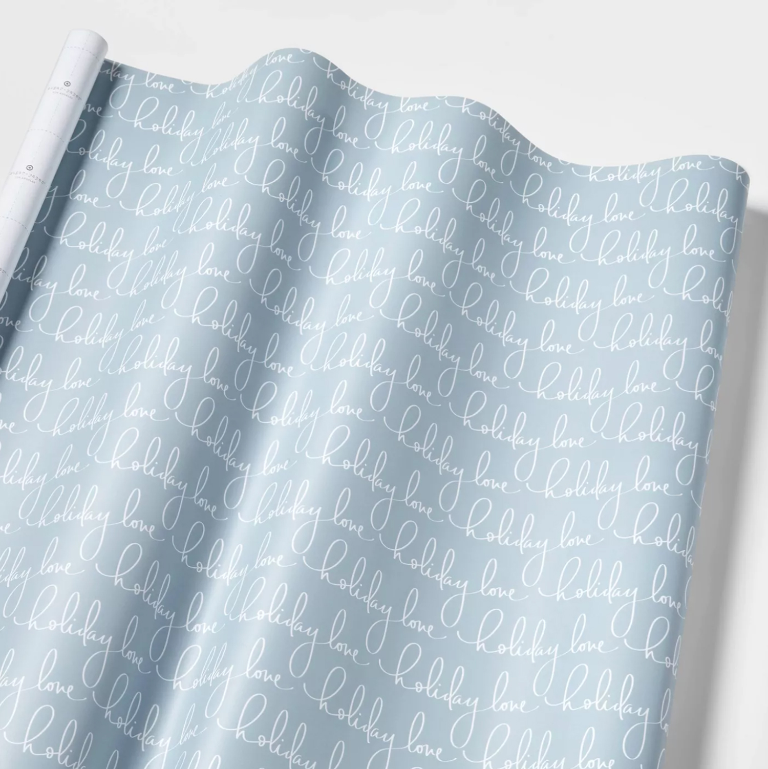blue holiday wrapping paper
