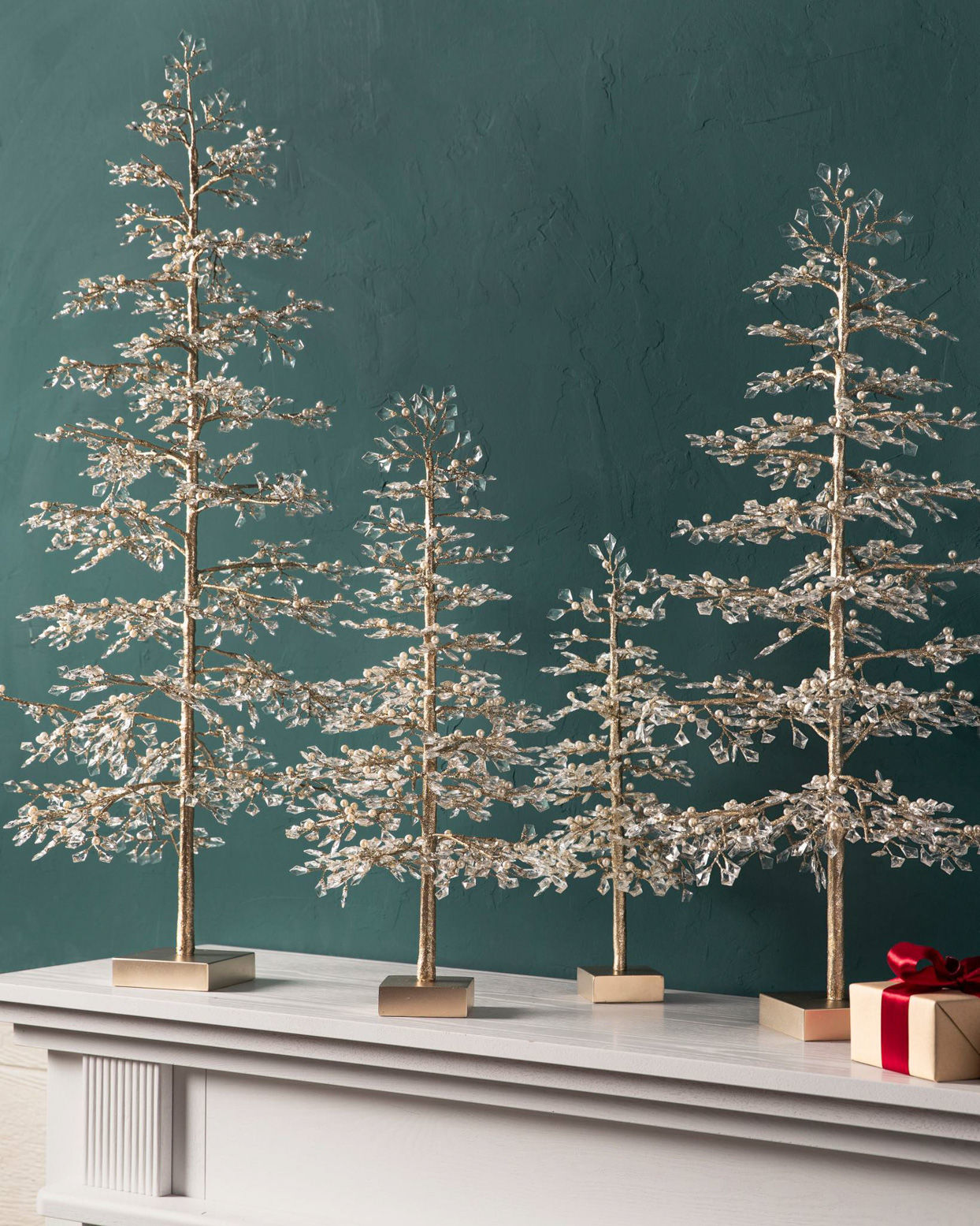Balsam Hill Crystal and Pearl Champagne Tree