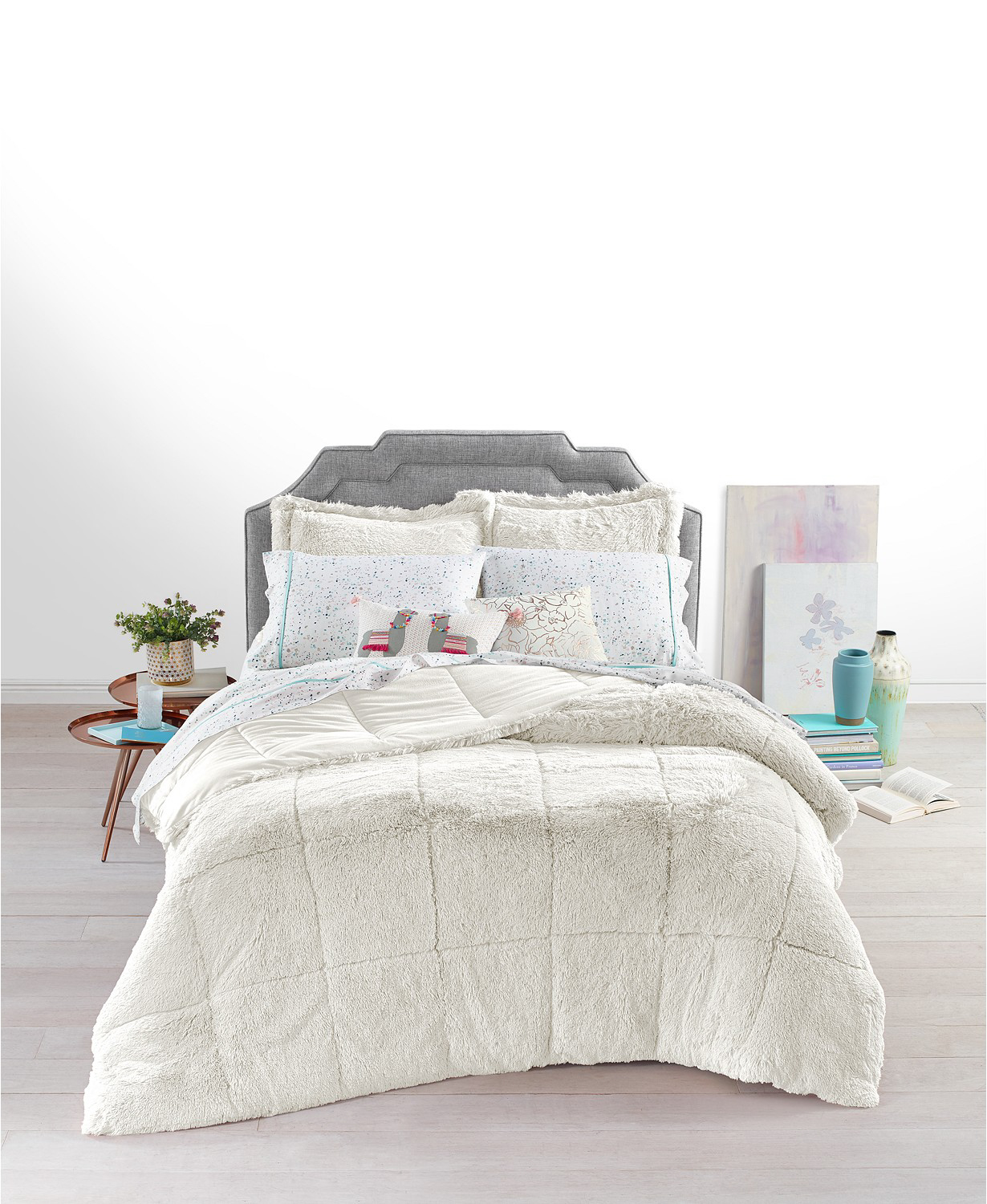 Whim by Martha Stewart Collection Shaggy Faux Fur Comforter Set